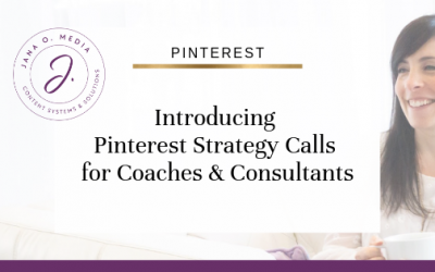 Introducing Pinterest Strategy Calls for Coaches & Consultants